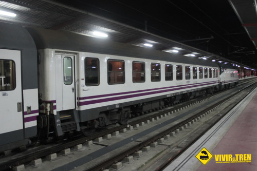 Tren nocturno Madrid