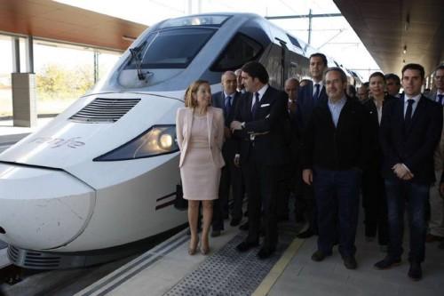 Hoy ha tenido lugar el estreno «oficioso» del nuevo tramo de Alta Velocidad Olmedo – Zamora