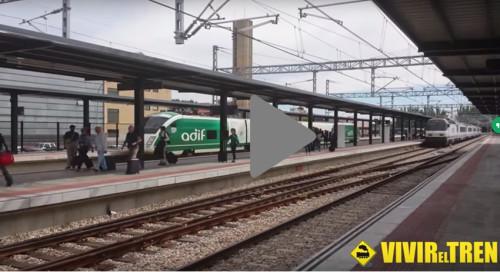 Maniobras tren Arco Galicia – País Vasco y BT 355 de Adif en la estación de León