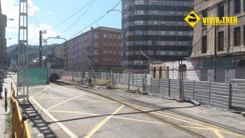 6 meses sin trenes de Feve por obras del soterramiento del ferrocarril en Langreo