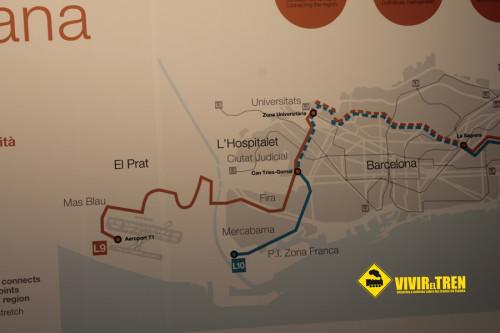 Plano Línea 9 Metro Barcelona