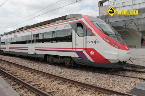 Tren Renfe viento Asturias