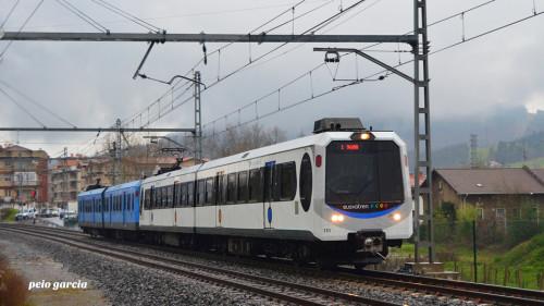 Viaje despedida unidades serie 300 de Euskotren
