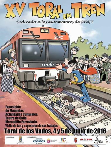 """Los días 4 y 5 de junio XV edición """"Toral en Tren"""" en la comarca del Bierzo"""