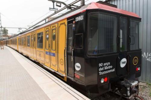 Una unidad conmemorativa del 90 aniversario del Metro Transversal circulará por la línea 1 del Metro de Barcelona