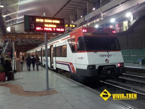 La Línea C-6 de Cercanías Valencia recupera la oferta anterior al inicio de las obras del Corredor Mediterráneo