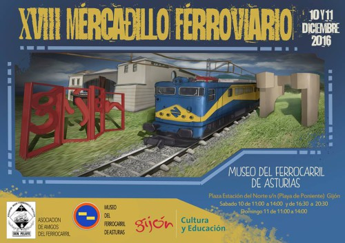 Nueva edición del mercadillo ferroviario en el Museo del Ferrocarril de Asturias de Gijón
