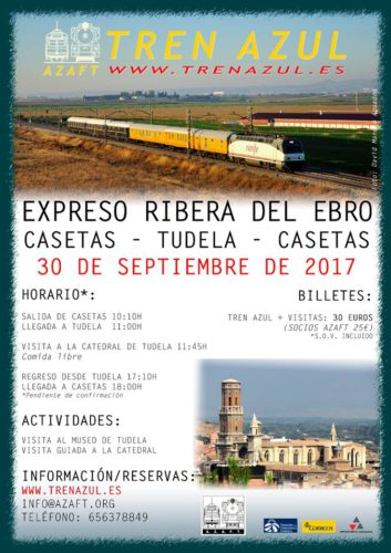 Viaje del Tren Azul desde Zaragoza Casetas a Tudela