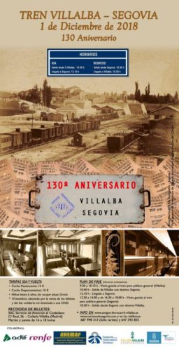Viaje especial Collado Villalba – Segovia por el 130 aniversario de la Línea
