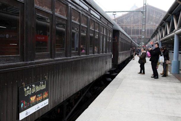 El Tren de Navidad circulará estas navidades entre el Museo del Ferrocarril de Madrid y Getafe